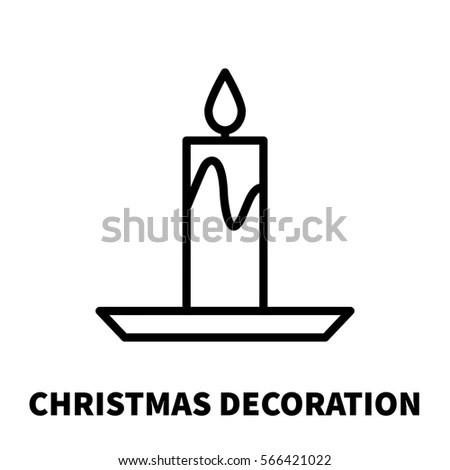 Christmas Decoration Icon Logo Modern Line Stock Vector