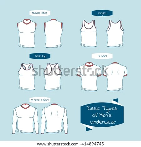 Types Mens Underwear Names On Ribbons Stock Vector 414894745  Shutterstock