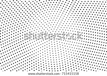 Black White Dotted Halftone Background Halftone Stock