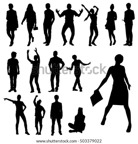 Woman Walking Silhouette Stock Images, Royalty-Free Images