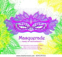 Mardi Gras Masquerade Party Invitation Stock Vector ...