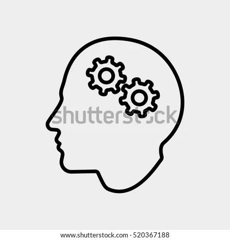 Brainstorm Creative Thinking Idea Man User Stock Vector
