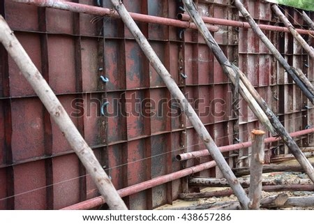 Rodbuster Ironworker Working On Concrete Reinforcements