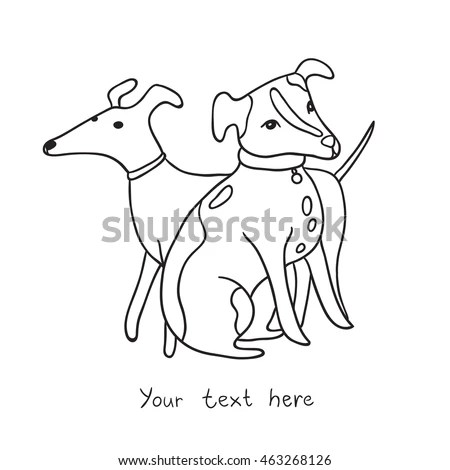Dog Outline Stock Images, Royalty-Free Images & Vectors