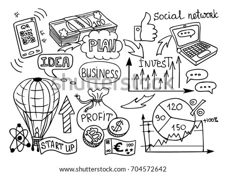 Economics Financial Education Handwriting Doodle Icon