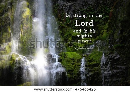 Sympathy Wallpaper Quotes Proxy Falls Waterfall Oregon Bible Verse Stock Photo