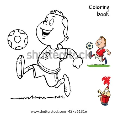 Children Drawing Football Stock Photos, Royalty-Free