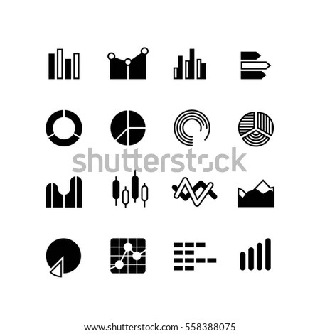 Graphic Graph Stats Data Bar Infographic Stock Vector