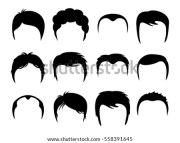 men vector silhouette shapes haircuts