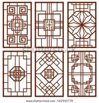 Traditional Korean Door Window Ornament Chinese Stock ...