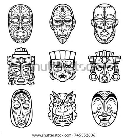 Mayan Masks Stock Images, Royalty-Free Images & Vectors
