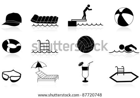 Swimming Pool Icon Stock Images, Royalty-Free Images