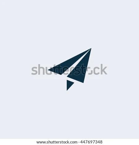 Send Icon Mobile Phone Communication Paper เวกเตอร์สต็อก