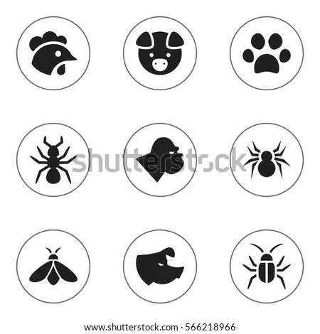 Silhouette Germ Pathogen Human Disease Icon Stock Vector