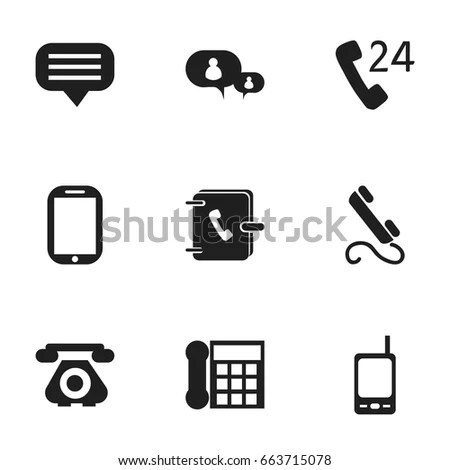 Set 9 Editable Phone Icons Includes Stock Vector 663715078