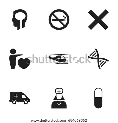 Set 12 Editable Health Icons Includes Stock Vector
