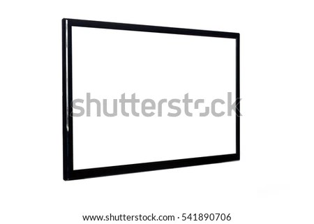 Front View Modern Blank High Definition Stock Photo
