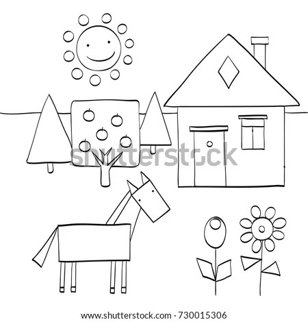 Geometric Horse Stock Images, Royalty-Free Images