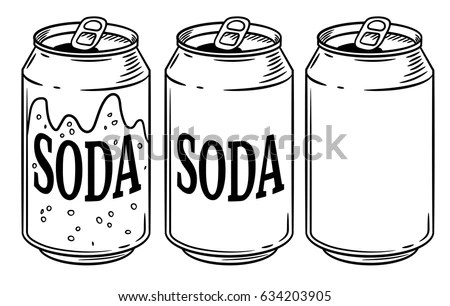 Vector Illustration Soda Can Isolated On Stock Vector