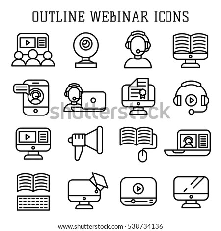 E-learning Icons Stock Images, Royalty-Free Images