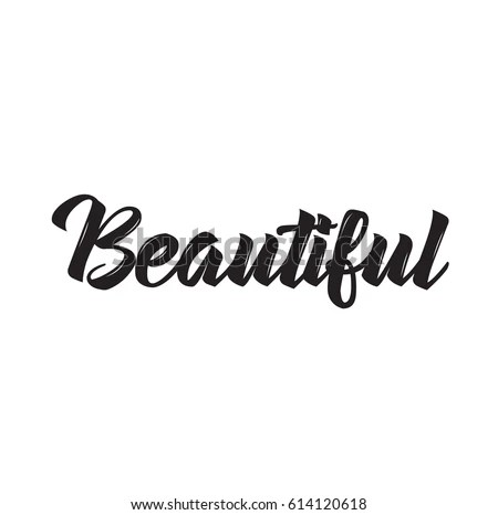 Beautiful Text Design Vector Calligraphy Typography Stock ...