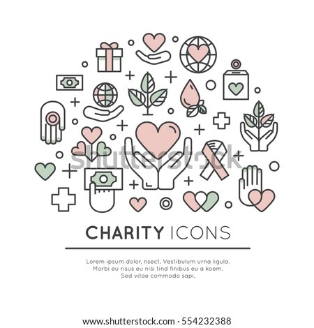Vector Icon Style Illustration Set Graphic Stock Vector