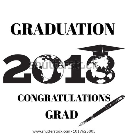 Graduation 2018 Design Template Square Academic Stock