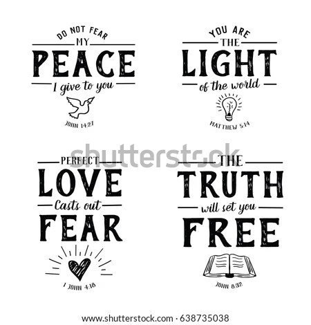 Christian Bible Verse Hand Lettering Scripture Stock