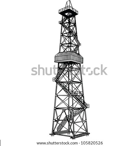 Oil Derrick Stock Images, Royalty-Free Images & Vectors