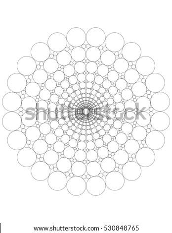 Mandala Dots Coloring Page Stock Illustration 530848765