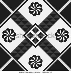 quilt block vector tile square motif monochromatic quilting pattern shutterstock