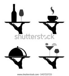 restaurant vector silhouettes catering illustration food background platter shutterstock vectors illustrations preview