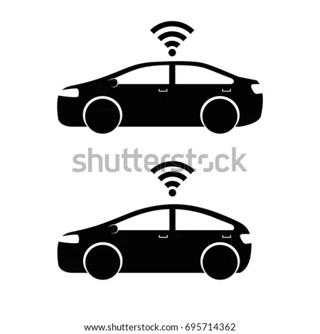 Remote Sensing System Smart Car Vehicle Stock Vector