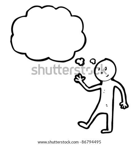 2 Stickmen Thought Speech Bubble On Stock Vector 219317299