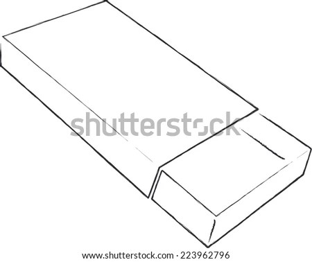 Counter Display Stand Blueprint Pattern Stock Vector