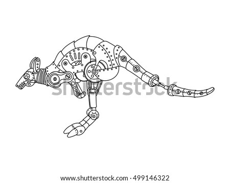 Snake Geometric Illustration Many Triangles Stock