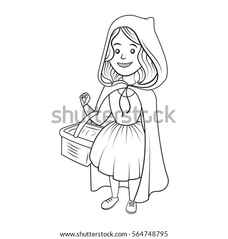 Little Red Riding Hood Coloring Book Stock Vector