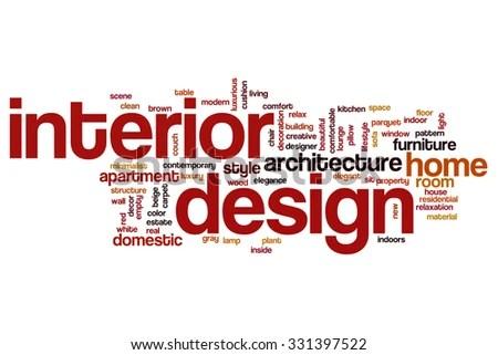 Interior Design Word Cloud Stock Illustration 331397522 Shutterstock