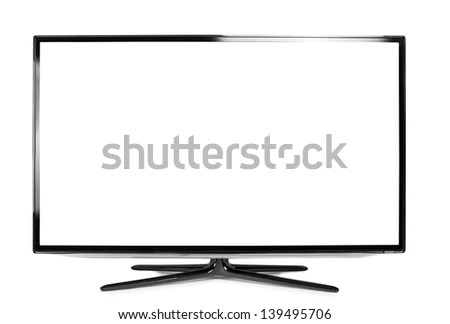 Led Lcd Tv Monitor Isolated On Stock Vector 105001991