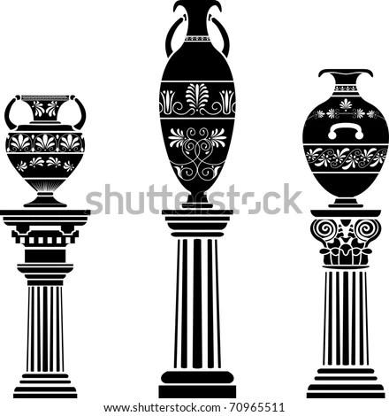 Flower Stencil Decorative Element Art Nouveau Stock Vector