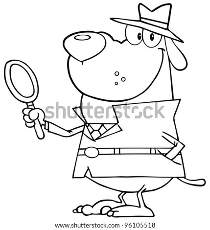 Black White Coloring Page Outline Santa Stock Vector