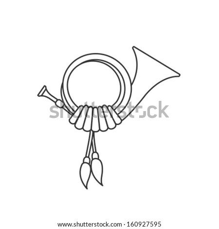 Vector Post Horn Icon Symbol Stock Vector 160927595