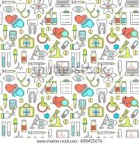 Medicine Health Design Seamless Pattern Modern Stock ...