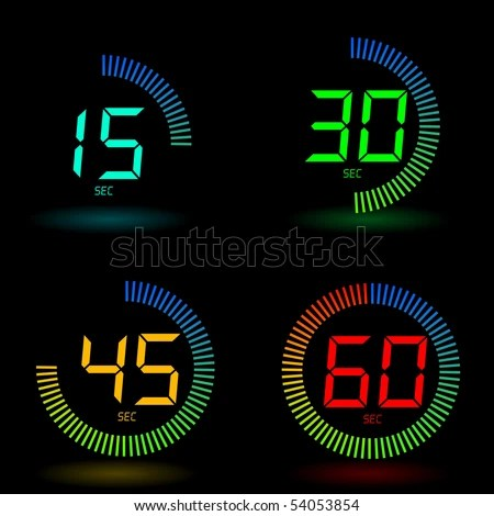 Digital timer - stock vector
