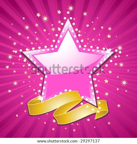 gold star red banner stock
