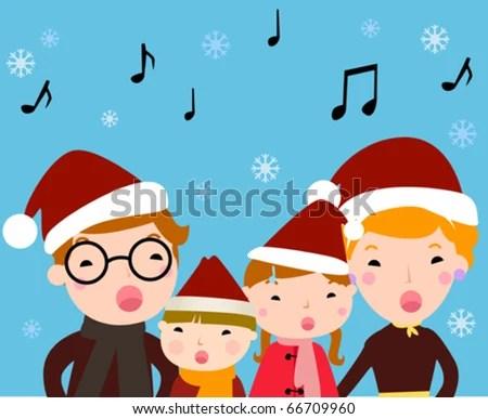 christmas choir stock royalty-free