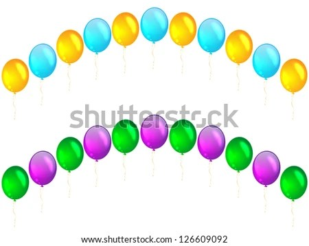 balloon arch stock royalty-free