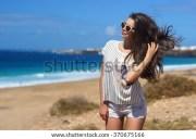 windy hair stock royalty-free