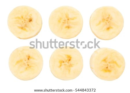 banana slice stock royalty-free