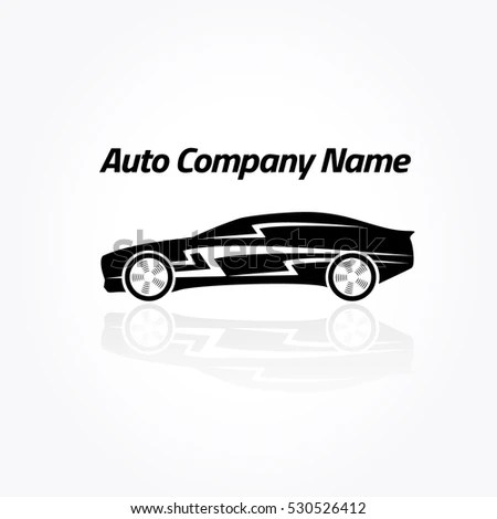 Design Muscle Car Silhouette On Dark Stock Vector